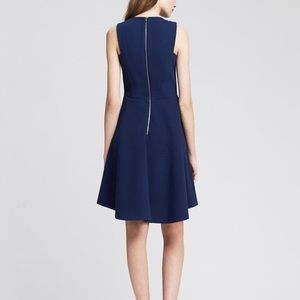 Banana Republic blue dress racerback exposed zip